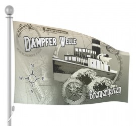 Dampfer Welle Game Flagge