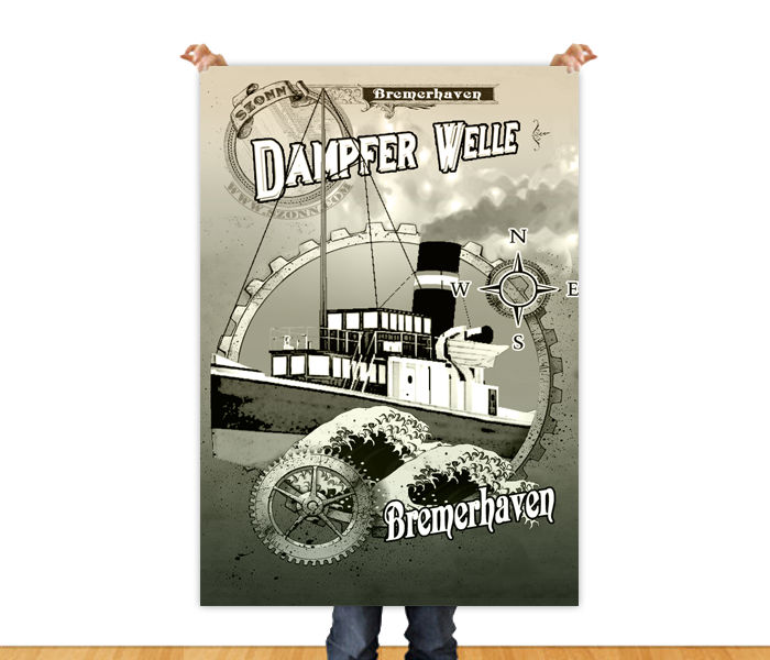 Dampfer Welle Game Poster